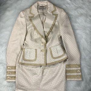 Karen Mullen Cream Skirt Jacket Suit